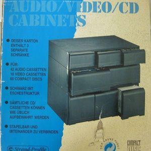 ΞΥΛΙΝΗ ΘΗΚΗ CABINET ΓΙΑ 42 AUDIO CASSETES + 18 VIDEO TAPE + 60 CD