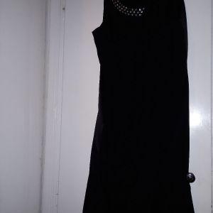μαυρο σατεν φορεμα Νο 36