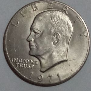 One Dollar 1971 silver