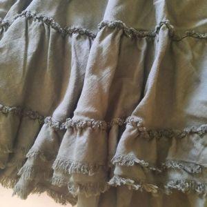 Λινή χακί φούστα