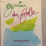 Vintage Άρωμα -  GRES 'Grain De Folie. 50 ml