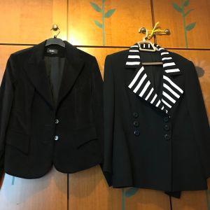 Δυο εξαιρετικά μαύρα σακάκια γυναικεία Large