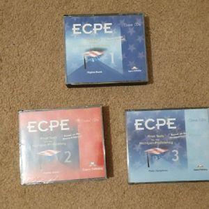Κασσέτες και CD προετοιμασίας για το listening του Proficiency of Michigan (1990-2000)  και το ΚΠΓ συλλεκτικές.