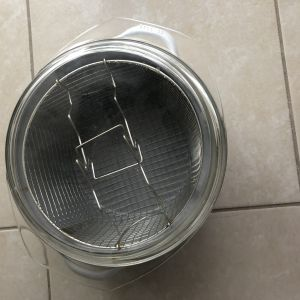 Φριτέζα κατσαρόλα με πυρέξ καπάκι 2 σε 1