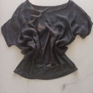 Μπλούζα μεταξωτή χρώμα ανθρακί