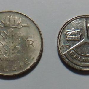 ΒΕΛΓΙΟ - 2 Νομίσματα - 1 Franc 1972 & 1 Franc 1989