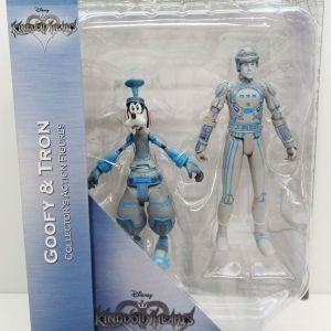 DIAMOND SELECT Kingdom Hearts Action Figures 18 cm 2-Pack Goofy & Tron