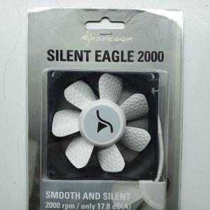 Ανεμιστηράκι Sharkoon Silent Eagle 2000 80x80x20mm για tower - case υπολογιστή και δώρο 2 ακόμη 80x80x25mm