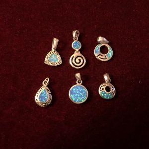 Ασημένια μοτίφ blue opal
