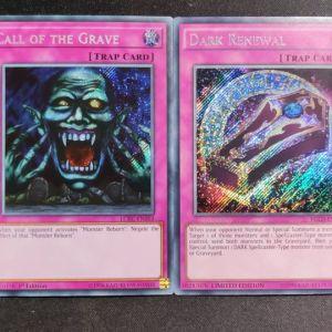 Dark Renewal Secret Rare + Call of the Grave Secret Rare