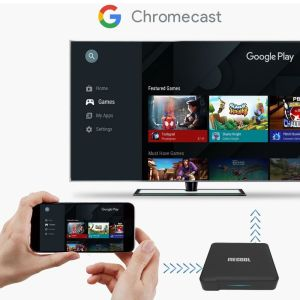 TV BOX ΧΩΡΙΣ Συνδρομές Mecool KM1 S905X3 ATV 4GB DDR RAM 32GB EMMC ROM Android 10.0 TV Box 2.4G 5G WIFI Bluetooth 4.2 Google Certified Support 4K YouTube Prime Video Google Assistant