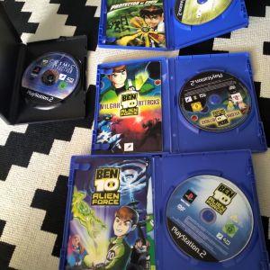 BEN 10 Συλλογη παιχνδιων για Sony PS2 alien force, vilgax attacks, cosmic destruction, protector of the earth