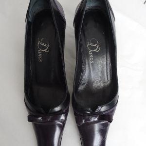 Γόβες Καλογήρου μαύρες και μοβ 36
