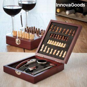 Σετ με Αξεσουάρ για Κρασί και Σκάκι InnovaGoods (37 Τεμάχια)