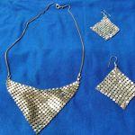 Σετ κολιέ και σκουλαρίκια metal mesh
