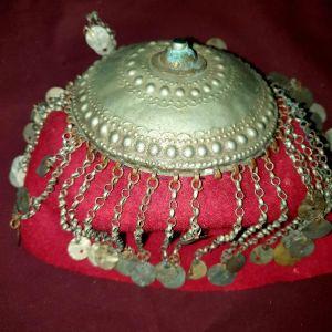 οθωμανικό  γυναικείο  φέσι  μικρασιατικής φορεσιές  αντίκα