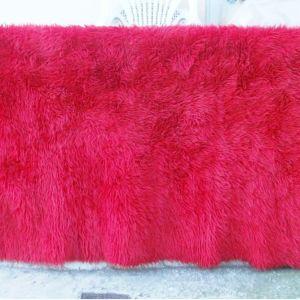 κουβέρτα - χαλί ροζ απαλο με μήκος 2,40 X 1,80