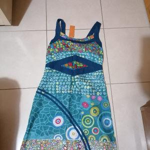 φόρεμα  εμπριμέ 100%βαμβακι