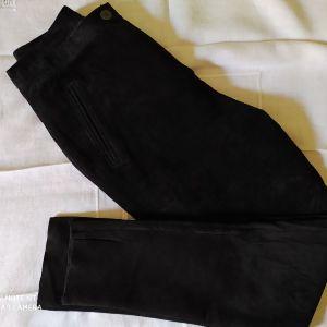 Vintage μαυρο δερμάτινο παντελονι.