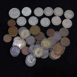 Μεγάλο Λοτ με 51 νομίσματα Δυτικής Γερμανίας