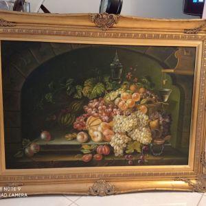 Πίνακας Φρούτα, Διαστάσεις: ύψος 1,15cm X  0,84cm