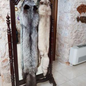 2 γούνινα κασκόλ ζωάκια ρενάρ