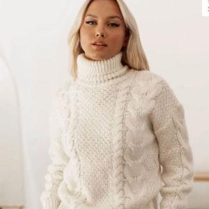 λευκό πουλόβερ one size