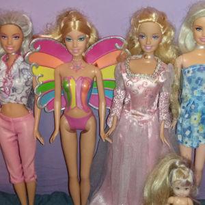 Κούκλες Barbie & Princess Annika, Kelly & Fairytopia Elina Πακέτο
