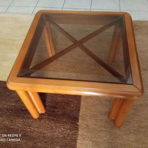 Τραπεζάκι σαλονιού ξύλινο μασιφ οξυα