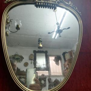 vintage καθρέφτης μεταλλικος