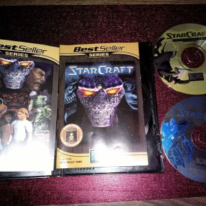 Starcraft + Expansion Brood War (PC). 2 δίσκοι.