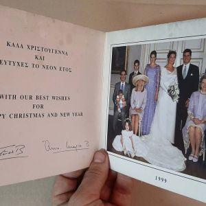 ΕΥΧΕΤΗΡΙΑ ΚΑΡΤΑ ΒΑΣΙΛΙΚΗΣ ΟΙΚΟΓΕΝΕΙΑΣ ΓΙΑ ΚΑΛΑ ΧΡΙΣΤΟΥΓΕΝΝΑ 1999
