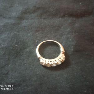 Ασημένιο δαχτυλίδι με ζιργκον
