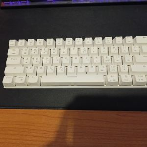 Motospeed CK62 RGB White Mechanical Wireless Gaming Keyboard
