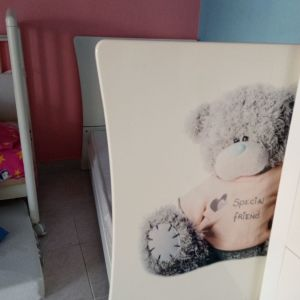 Σετ παιδικού δωματίου (κρεβάτι, 2φυλλη ντουλάπα και συρταριερα με 3 συρτάρια)