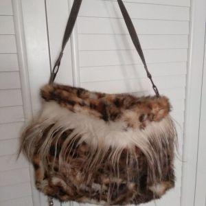 Γνήσια γούνα τσάντα