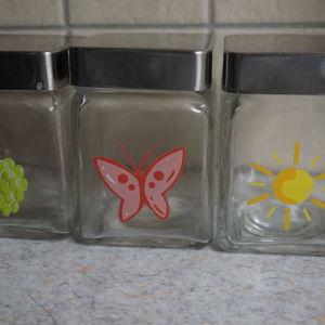 3 γυαλινα βαζακια