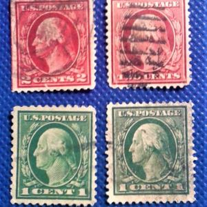 Γραμματόσημα.US 1 CENT 2CENT  WASHINGTON