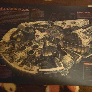 Συλλεκτικη Αφισα Star Wars Millenium Falcon
