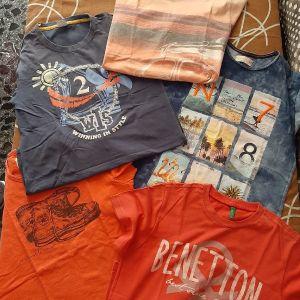 5 μπλουζάκια παιδικά νο 12 και 13-14