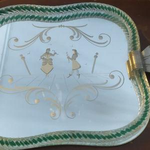 Δίσκος σερβιρίσματος καθρέφτης vintage