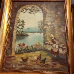 αναγλυφος πίνακας ζωγραφικής ελαιογραφία σε καμβά με διαστάσεις 52 Χ 40 εκατοστά του Θεοδώρου