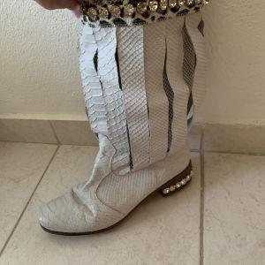 μπότες δερμα 100% με Swarovski