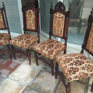 Καρέκλες ξυλόγλυπτες αντίκα 4 τεμ.