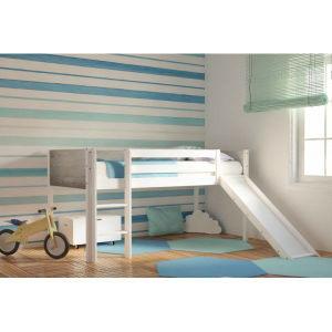 Υπερυψωμένο κρεβάτι με τσουλήθρα