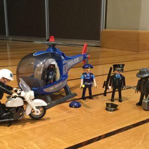 Ελικόπτερο - Μηχανή Αστυνομίας και φιγούρες playmobil