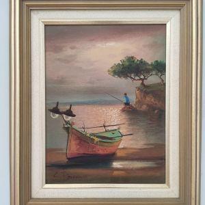 Ζωγραφικός πίνακας - ελαιογραφία Χ. Μπρίκμαν (C. Brickman)