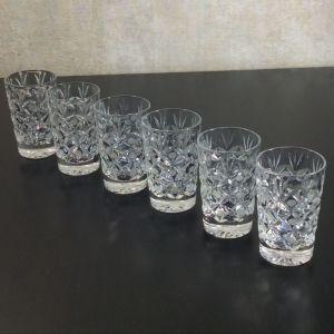 Ποτηρακια/ σφηνάκια 6 τμ κρύσταλλο USSR 70'-80'