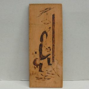 Πινακάκι - πυρογραφία σε ξύλο.