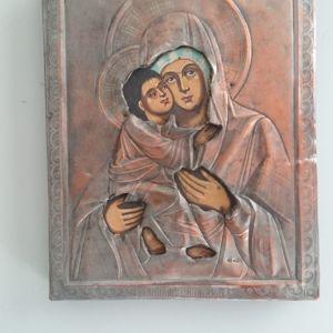 Παλιά ξύλινη ζωγραφιστη ρωσική εικόνα...